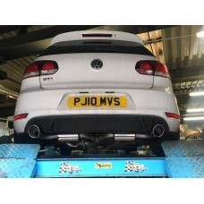 KMS Motorsport Cat Back Exhaust - Golf Mk6 Gti